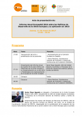 Presentación Informe Anual EuropeAid 2016