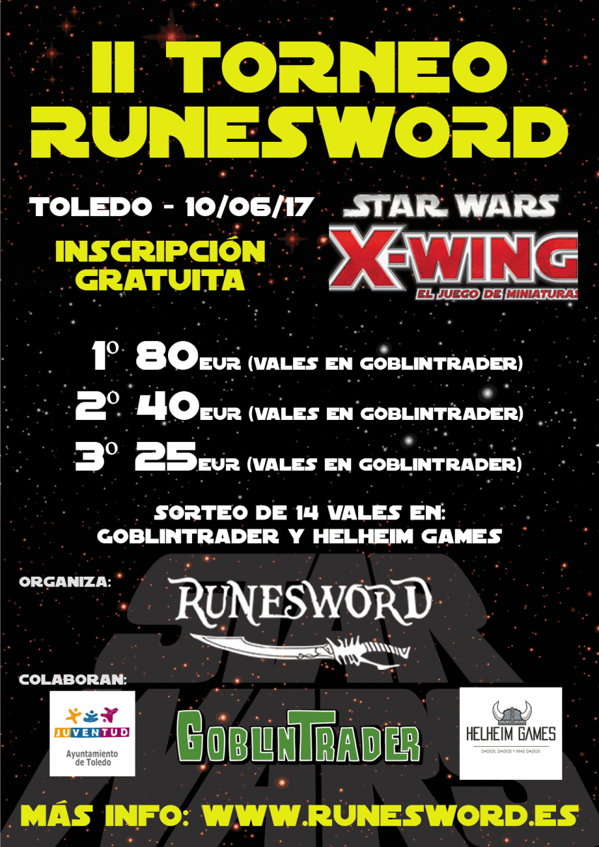 I Torneo X- WING  Ciudad de Toledo