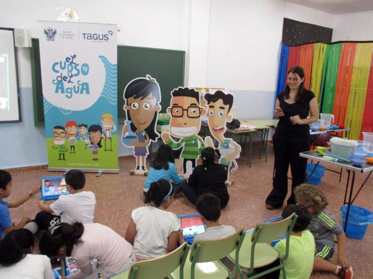 El Ayuntamiento y Tagus llevan el programa educativo 'El Curso del Agua' a más de 350 escolares de Toledo