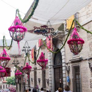Ornamentación de calles, plazas, rinconadas, fachadas, balcones del recorrido procesional Corpus Christi 2017