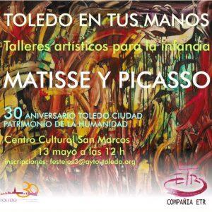 """Abiertas las inscripciones para el nuevo taller artístico infantil de """"Toledo en tus manos"""" dedicado a Picasso y Matisse"""