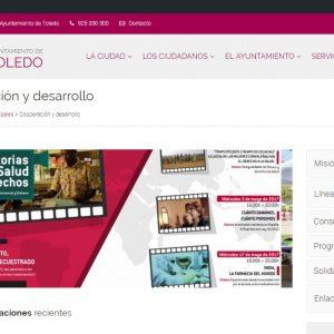 La web municipal abre un espacio sobre cooperación que incluye el envío de un boletín de noticias sobre esta área
