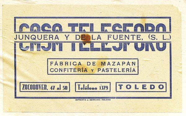 12 - Fábrica de mazapán Casa Telesforo - Zocodover 47_Detalle