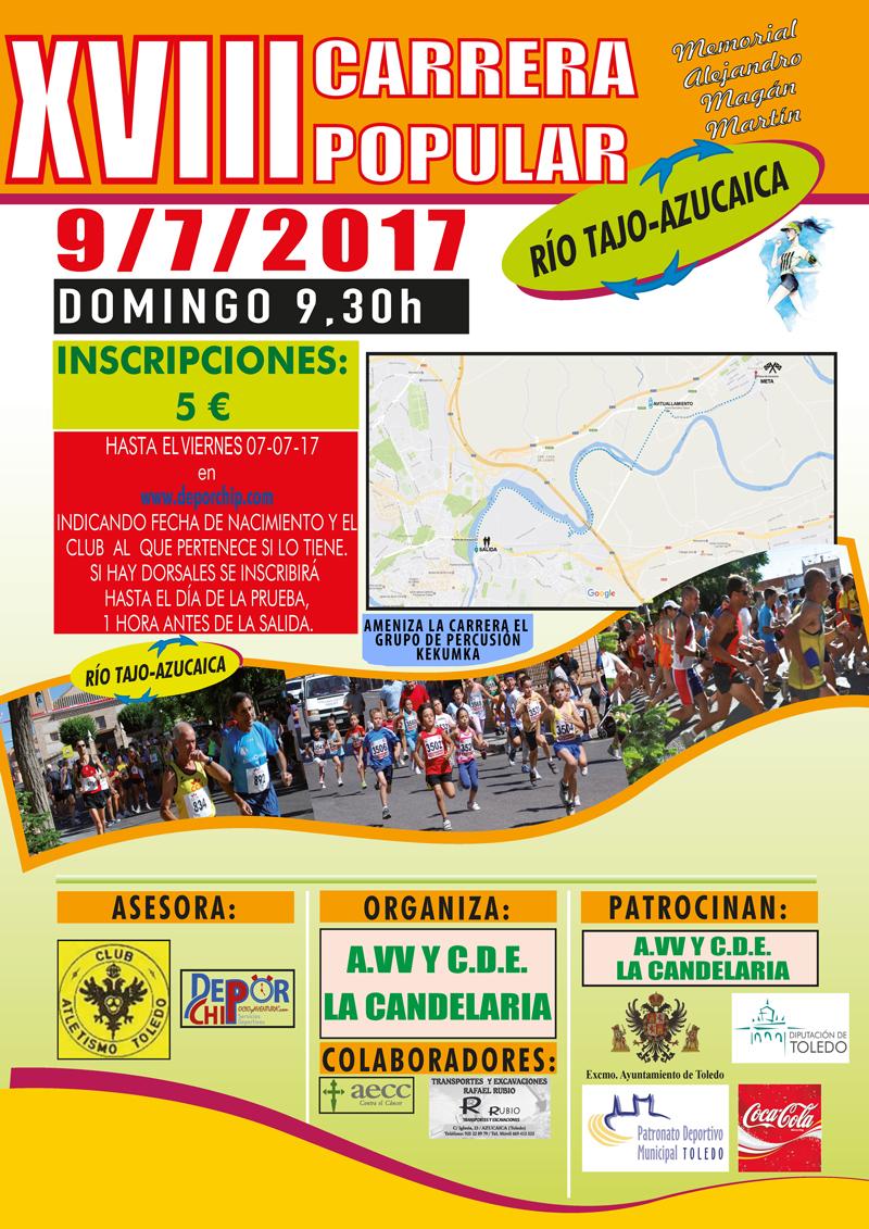 Este domingo se celebra la XVIII Carrera Río Tajo-Azucaica, que un año más cuenta con la colaboración municipal