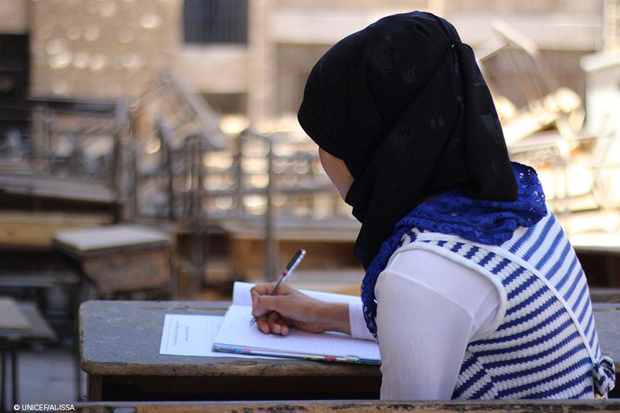 Niños de Siria: ¿hasta dónde llegarías para hacer un examen?