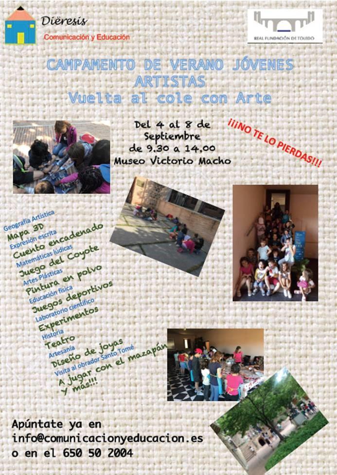 Campamento de día Vuelta al cole con arte