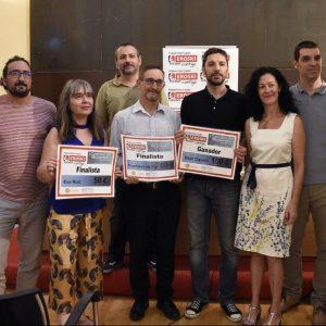 """Raúl Clavero gana el I Concurso de Microrrelatos de """"Solidaridad 365+1"""", cuyos premios se han entregado hoy en San Marcos"""