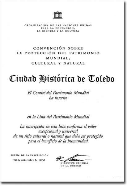63.Toledo y su título de Ciudad Patrimonio de la Humanidad