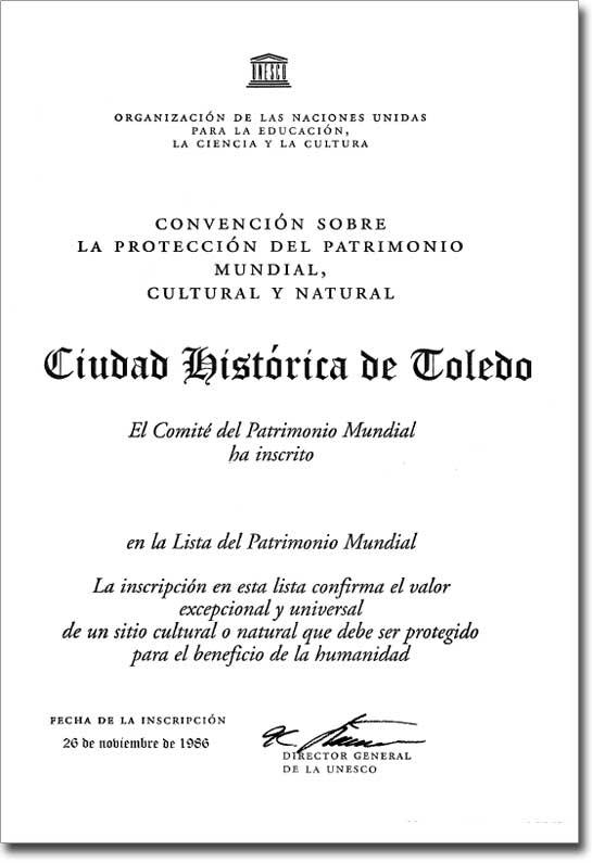 https://www.toledo.es/wp-content/uploads/2017/08/titulo-otorgado-por-la-unesco-a-toledo-como-ciudad-patrimonio-de-la-humanidad.jpg. Toledo y su título de Ciudad Patrimonio de la Humanidad