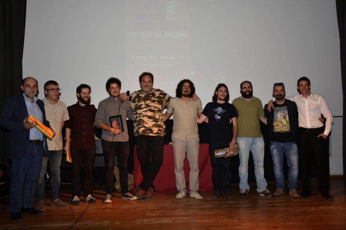 """https://www.toledo.es/wp-content/uploads/2017/09/clausura_cortos-1200x800.jpg. Brillante clausura del Concurso de Corto Joven """"Ciudad de Toledo"""" con la presencia del actor Juan José Ballesta"""