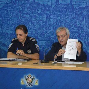 El Ayuntamiento establece un dispositivo de seguridad que propone entradas y salidas diferenciadas para ver 'Luz Toledo'