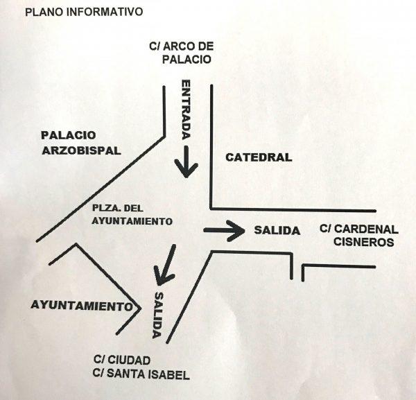 Plano informativo Entradas y Salidas Luz Toledo