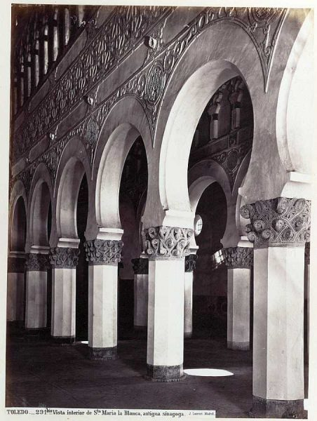 0291 Bis - Vista interior de Santa María la Blanca, antigua sinagoga