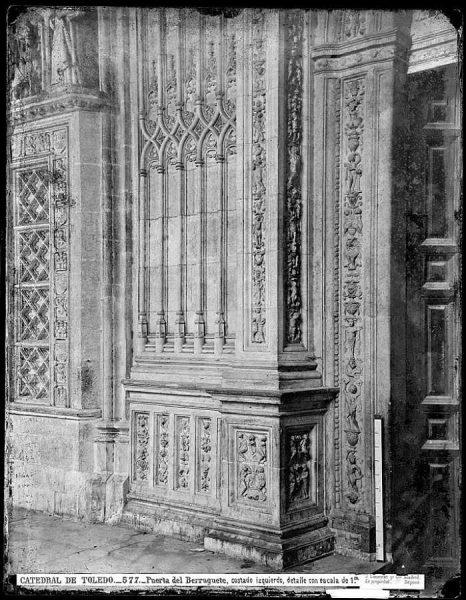 0577 - Catedral de Toledo_Puerta del Berruguete, costad izquierdo, detalle