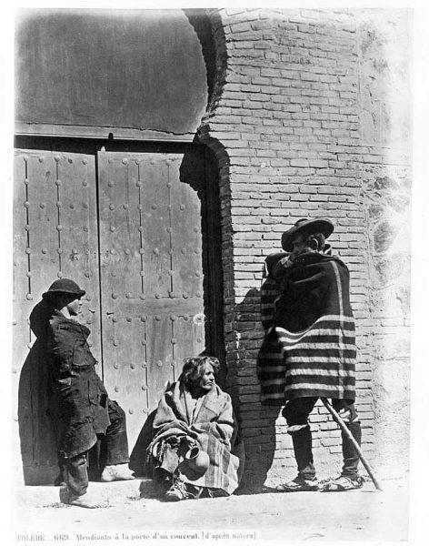0669 - Mendiants à la porte d'un convent