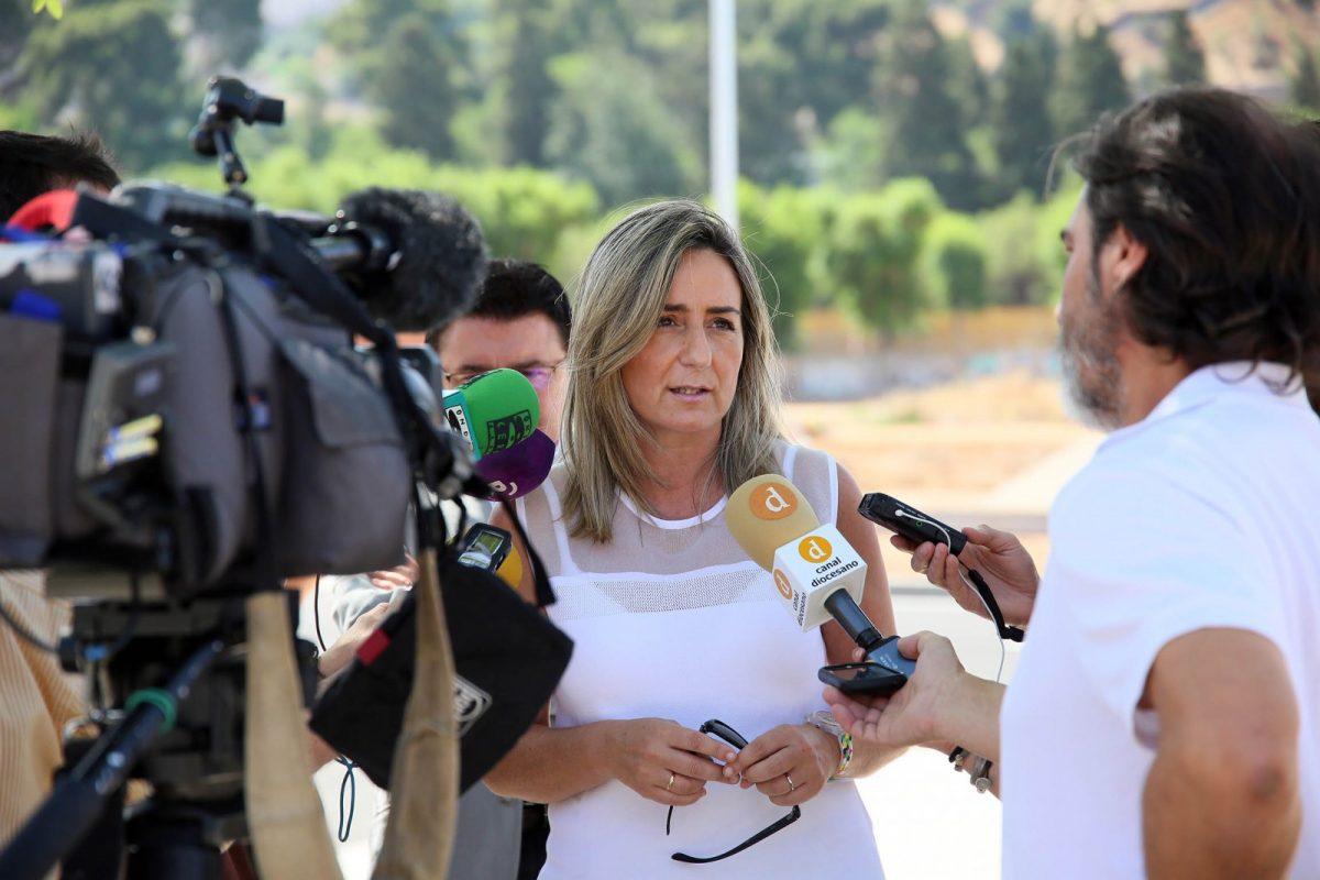 """http://www.toledo.es/wp-content/uploads/2017/10/12_obras_santa_teresa.-1200x800.jpg. La alcaldesa espera que el nuevo presidente de la CHT sea consciente del """"crimen consentido"""" que sufre el Tajo en Toledo"""