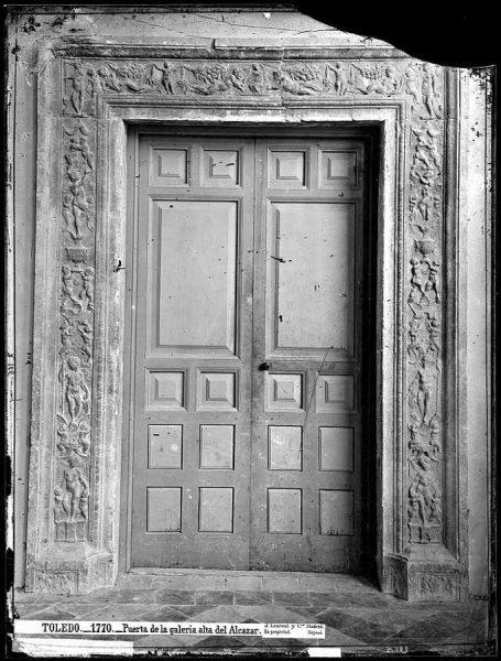1770 - Puerta de la galería alta del Alcázar