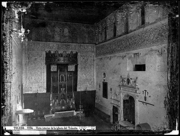 1774 - Vista interior de la iglesia del Tránsito