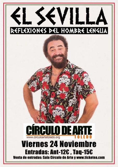 http://www.toledo.es/wp-content/uploads/2017/10/cartel.monologo-el-sevilla..jpg. El Sevilla. Reflexiones del hombre lengua
