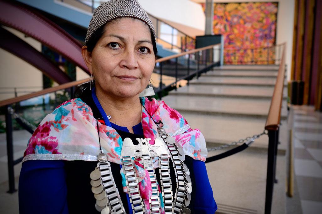 http://www.toledo.es/wp-content/uploads/2017/10/elisalonconmapuchechile.jpg. Expertos de la ONU piden a Chile no utilizar la Ley Antiterrorista contra los mapuche