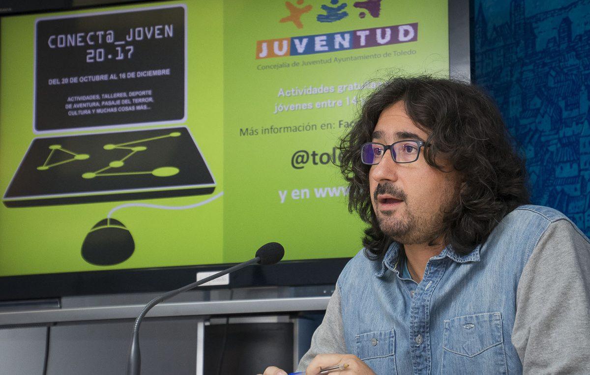 http://www.toledo.es/wp-content/uploads/2017/10/mejias_conecta-joven-2017-1200x763.jpg. Este jueves se pone en marcha el nuevo programa 'Conect@ Joven' con más de 20 propuestas de ocio responsable y alternativo