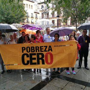 La plaza de Zocodover acoge una concentración en el Día Internacional para la Erradicación de la Pobreza