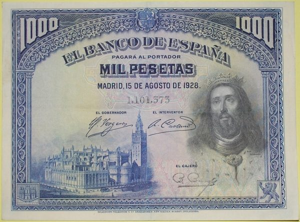 5_Billete de 1000 pesetas - San Fernando