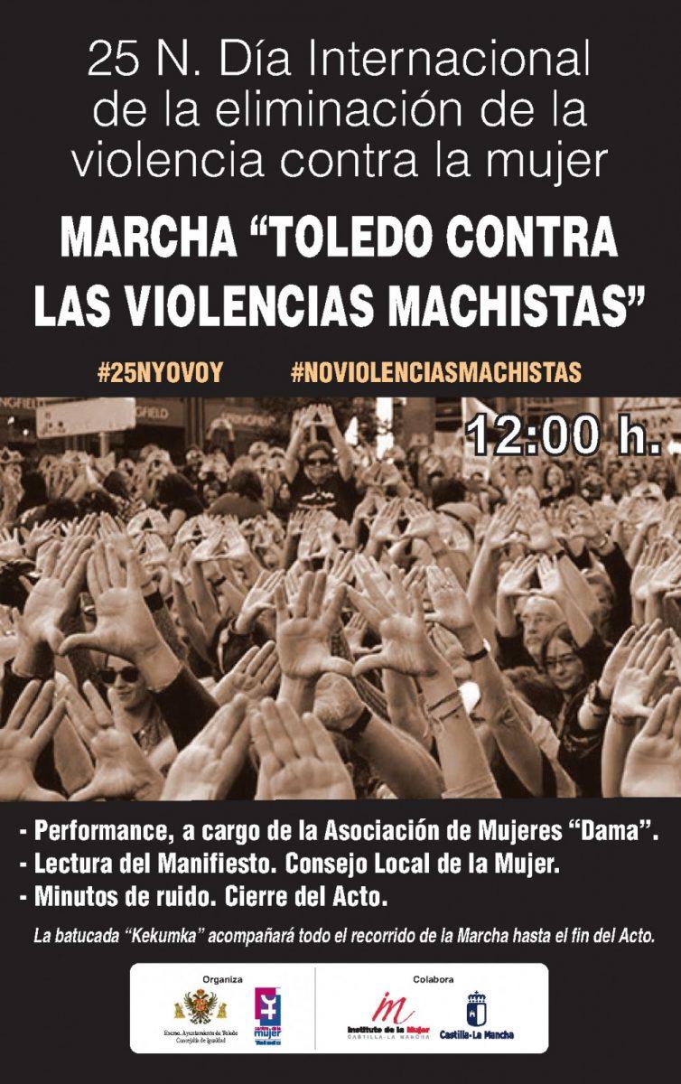 """Marcha: """"Toledo contra las violencias machistas""""."""