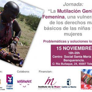 """Jornada: """"La Mutilación Genital Femenina, una vulneración de los derechos más básicos de las niñas y las mujeres"""""""