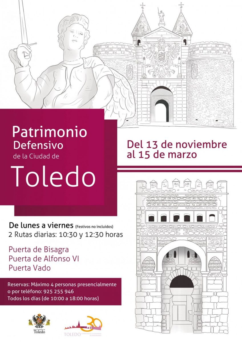 http://www.toledo.es/wp-content/uploads/2017/11/murallas-848x1200.jpg. Ruta Patrimonio Defensivo de la Ciudad de Toledo