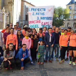 El Ayuntamiento muestra su apoyo a los atletas toledanos que han recorrido a pie Ávila-Toledo para concienciar sobre el cáncer de mama