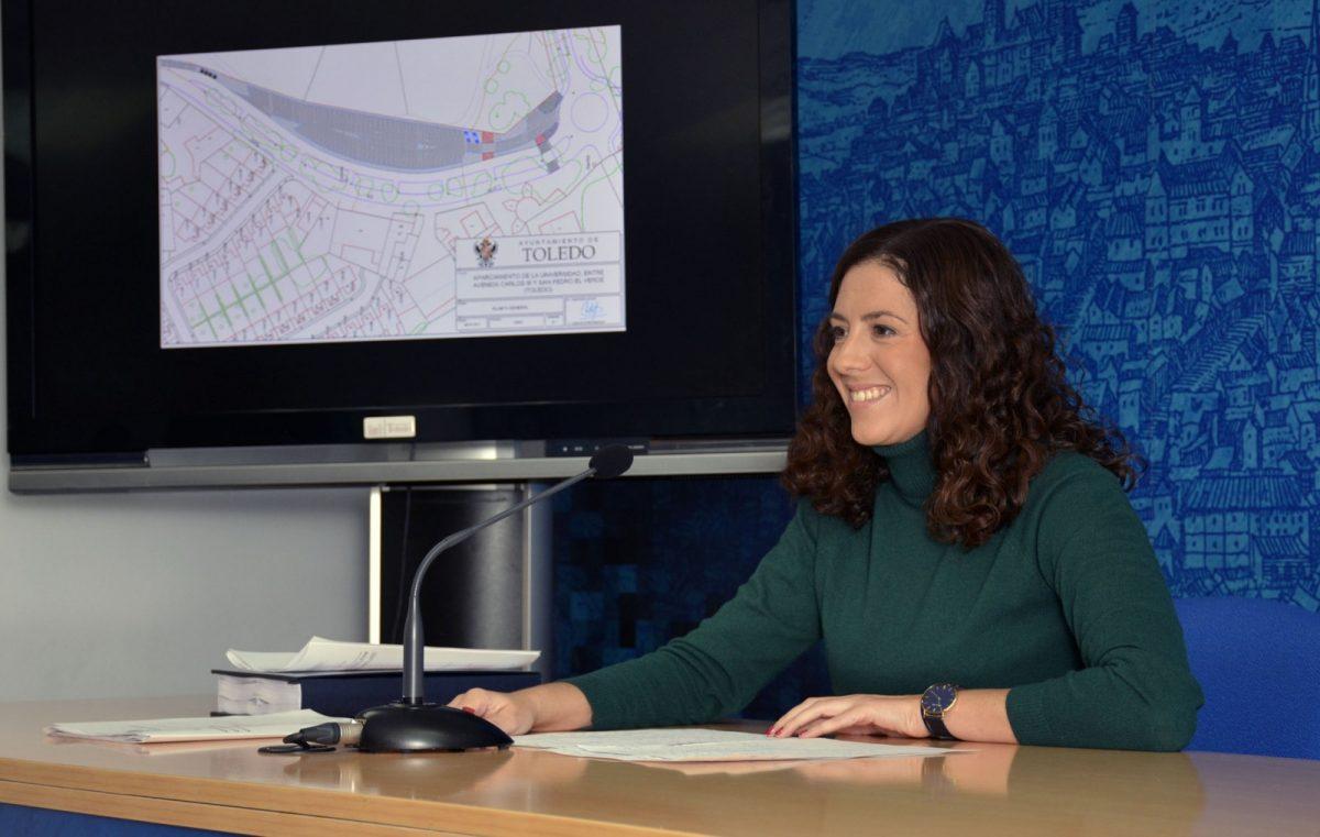 La nueva zona de aparcamiento de San Pedro el Verde tendrá 120 plazas, una mejor iluminación, aceras y más árboles