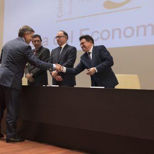 El Gobierno local invita al Colegio de Economistas a ir de la mano en la promoción económica y el desarrollo de la ciudad de Toledo