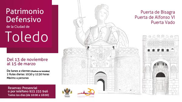 http://www.toledo.es/wp-content/uploads/2017/11/toledo-defensa-del-patrimonio_web.jpg. Rutas de Patrimonio Defensivo de la ciudad de Toledo