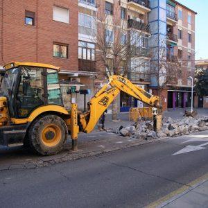 El Plan de Asfaltado de Palomarejos renovará la parada de autobús y los aparcamientos de la calle Gante