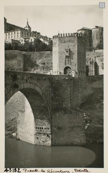 43182_ADPT - Arco central y torreón norte del puente de Alcántara