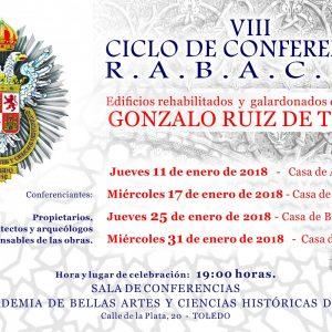 VIII de Conferencias: Edificios rehabilitados y galardonados con el premio Gonzalo Ruiz de Toledo