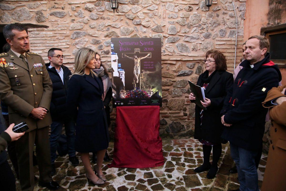 Milagros Tolón destaca el patrimonio artístico, cultural y espiritual de la Semana Santa en la presentación del cartel de la edición 2018