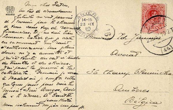 A Amberes (BÉLGICA) (1910)