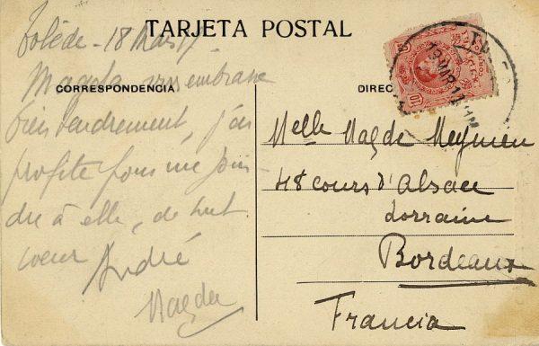 A Burdeos (FRANCIA) (1917)