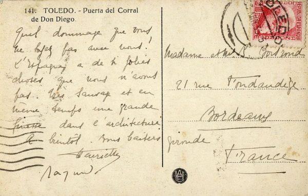 A Burdeos (FRANCIA) (1935)