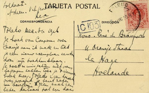A La Haya (HOLANDA) (1916)