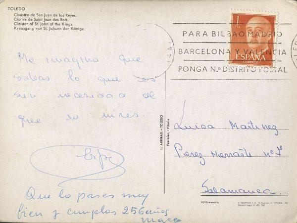 A Salamanca (1967 ca)