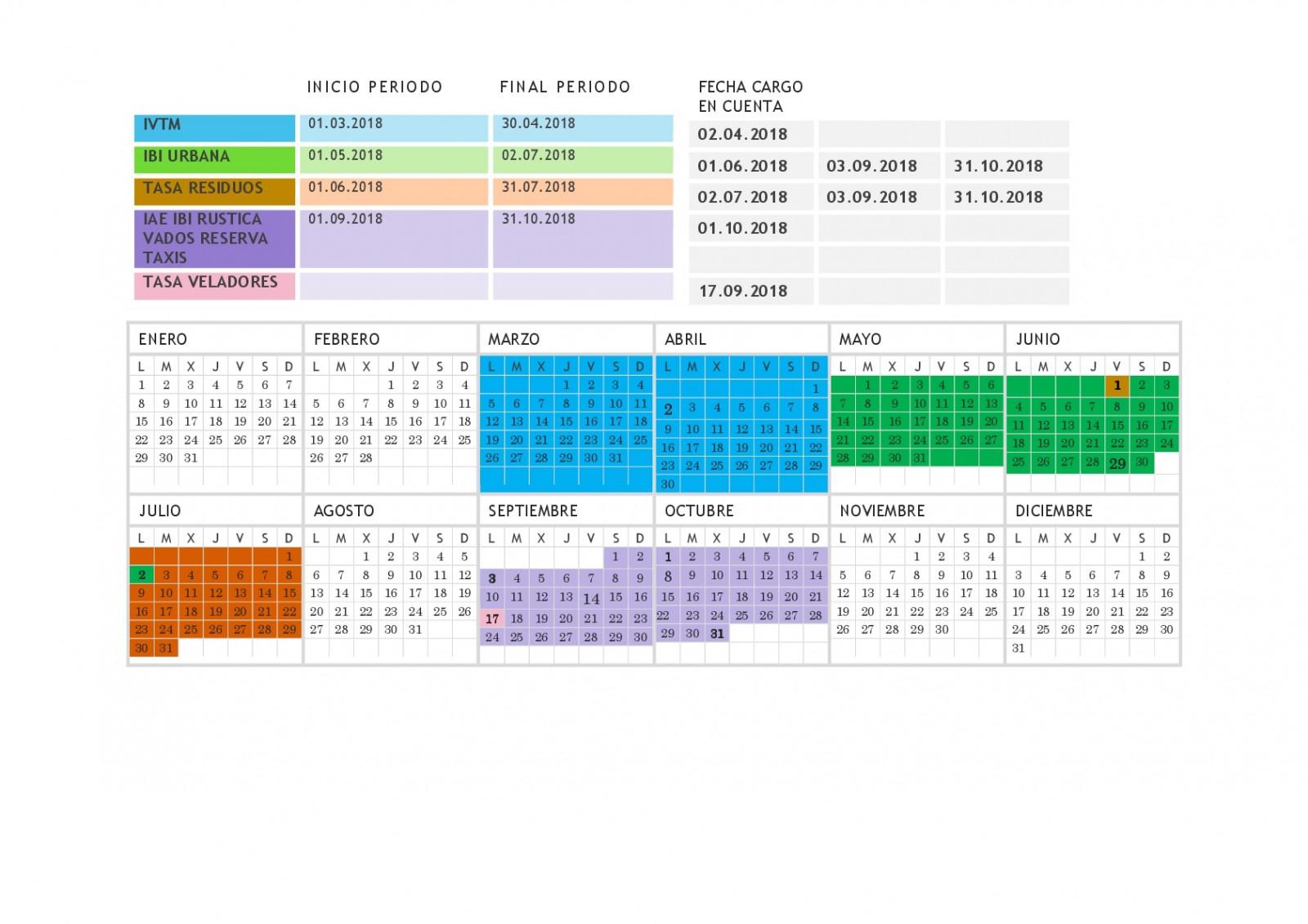 Calendario tributario 2018 ayuntamiento de toledo for Oficinas bbva toledo