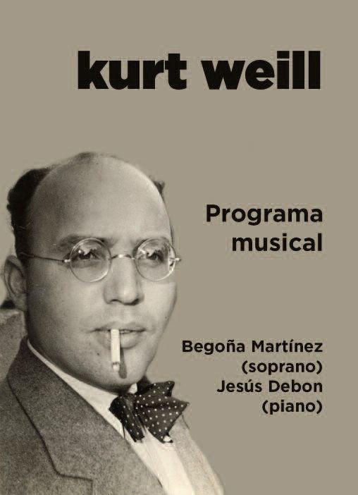 """CONCIERTO """"KURT WEILL, DE BERLÍN A NEW YORK"""""""