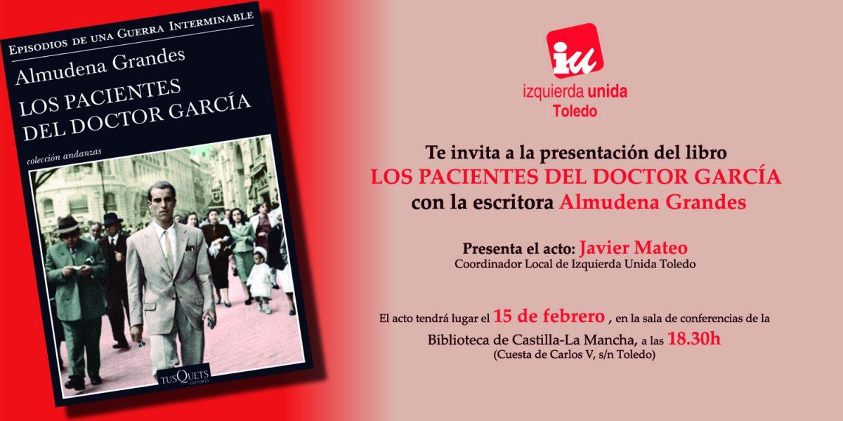 20º ANIVERSARIO DE LA BIBLIOTECA: Presentación de libro Los pacientes del Doctor García