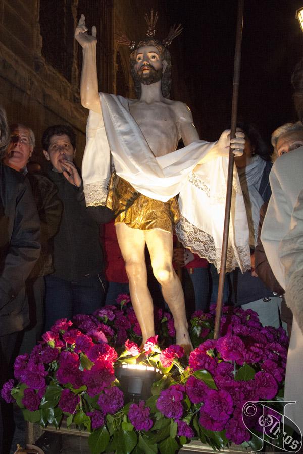 Domingo de Resurrección. Procesión de la VIRGEN DE LA ALEGRÍA Y JESÚS RESUCITADO