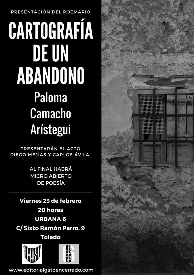 http://www.toledo.es/wp-content/uploads/2018/02/27994342_10216112650113435_407369451_n.jpg. 'Cartografía de un abandono', de Paloma Camacho