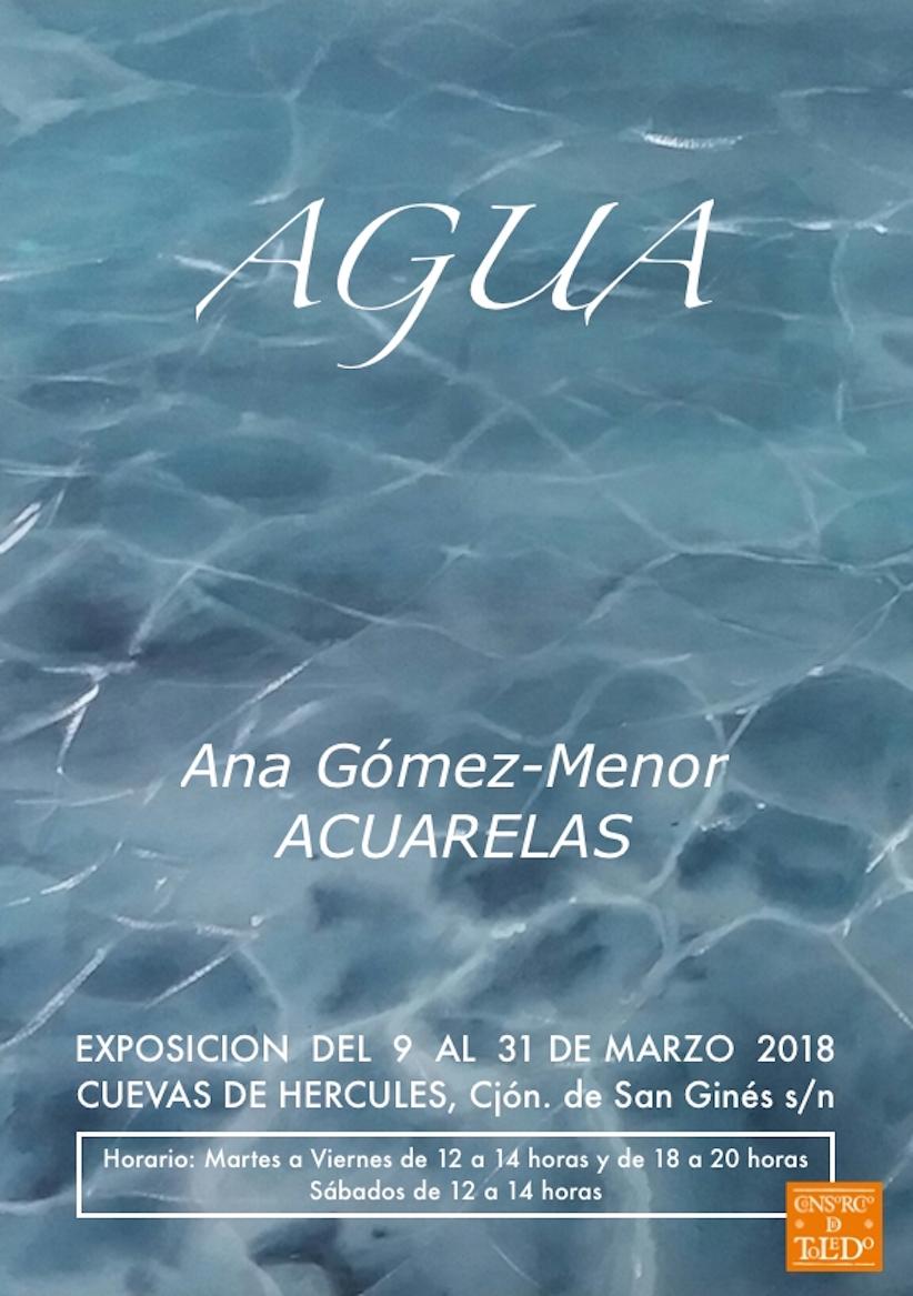 """http://www.toledo.es/wp-content/uploads/2018/02/ana-gomez-menor.jpg. Exposición """"AGUA"""", acuarelas de Ana Gómez Menor"""