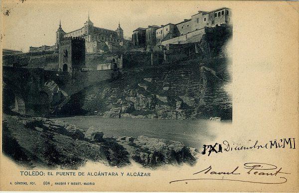 CÁNOVAS_804-Toledo - El puente de Alcántara y Alcázar